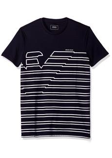 ARMANI JEANS Men's Slim Fit Interlock T-Shirt