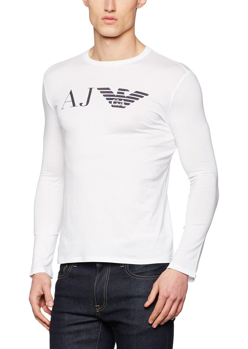 59eff15f2172 Armani ARMANI JEANS Men s Slim Fit Pima Cotton Long Sleeve T-Shirt ...