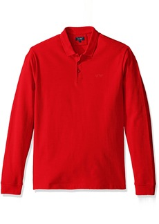 Armani Jeans Men's Solid Long Sleeve Polo Shirt  3XL
