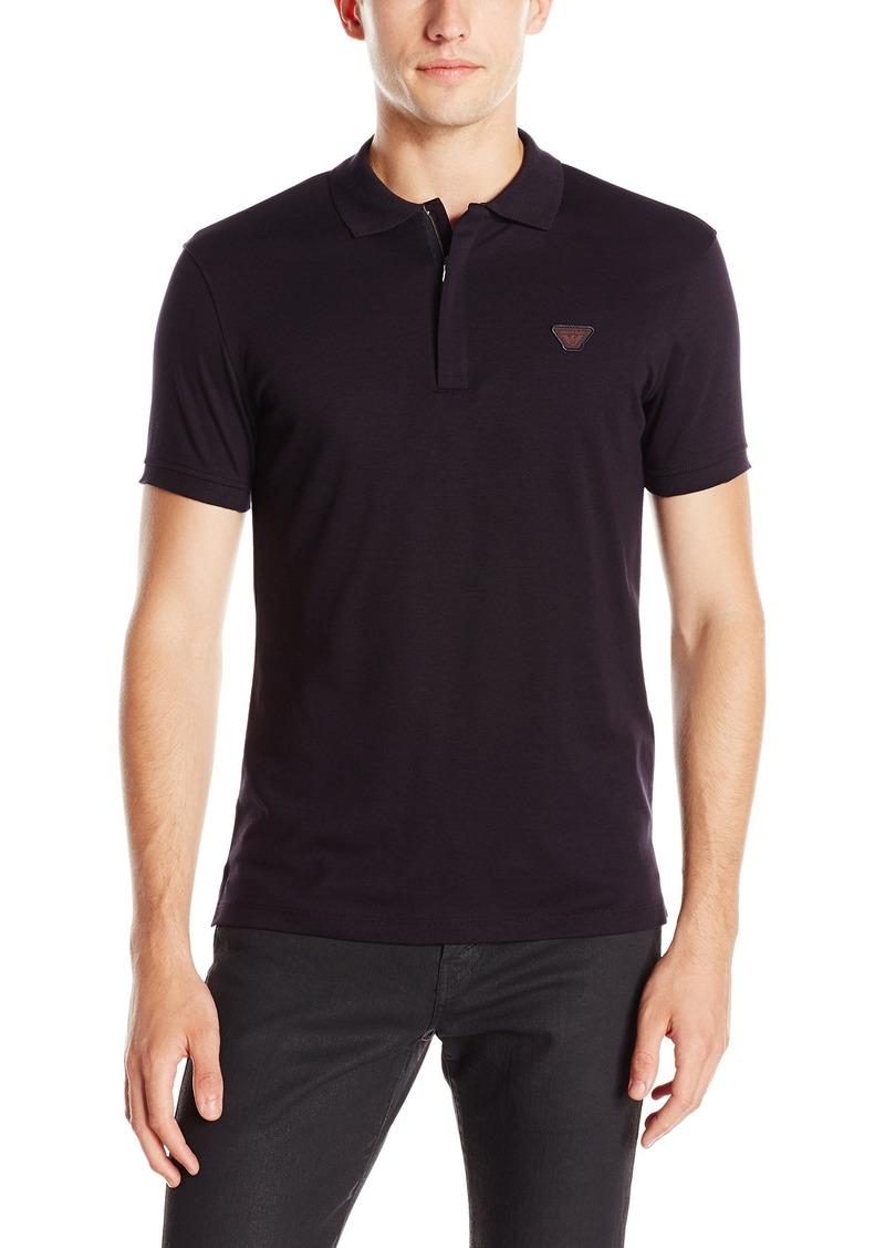 Armani Jeans Men's Solid Polo Shirt  XXL