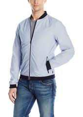 ARMANI JEANS Men's Stretch Cotton Popeline Bomber Jacket