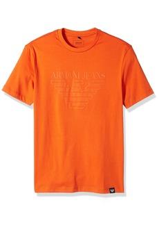 ARMANI JEANS Men's Tonal Eagle Logo Tshirt