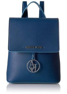 Armani Jeans Saffiano Color Trim Backpack