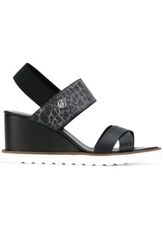 Armani Jeans wedge sandals - Black