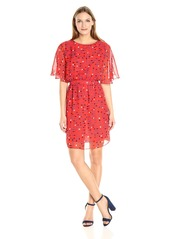 ARMANI JEANS Women's All Over Printed Short Sleeve Dress