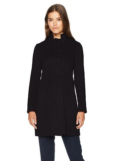 ARMANI JEANS Women's Felt Wool Mock Collar Coat
