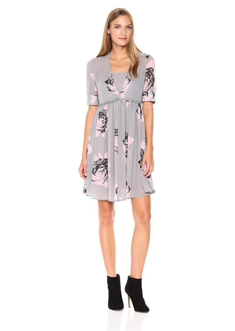 ARMANI JEANS Women's Floral Printed Twist Front Dress