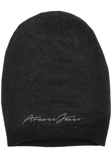 Armani Jeans Women's Logo Knit Beanie Dark Grey