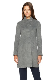 ARMANI JEANS Women's Mock Collar Felt Wool Coat