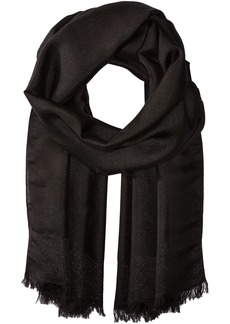 Armani Jeans Women's Solid Woven Scarf black