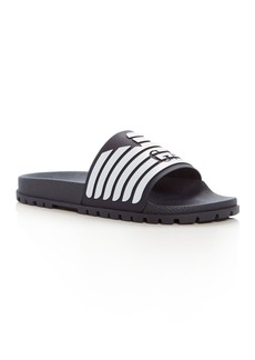 Armani Men's Embossed Logo Slide Sandals