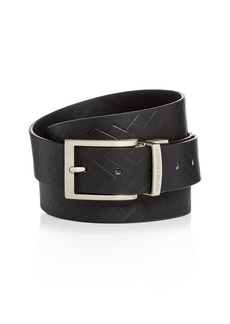 Armani Men's Embossed Reversible Leather Belt