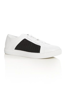 Armani Men's Leather & Mesh Lace Up Sneakers