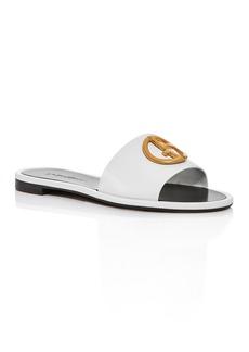 Armani Women's Logo Slide Sandals