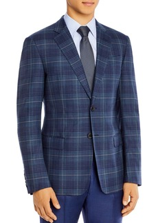 Armani Wool Plaid Classic Fit Tailored Jacket