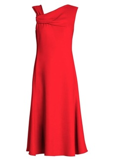 Armani Asymmetric Fit-And-Flare Dress