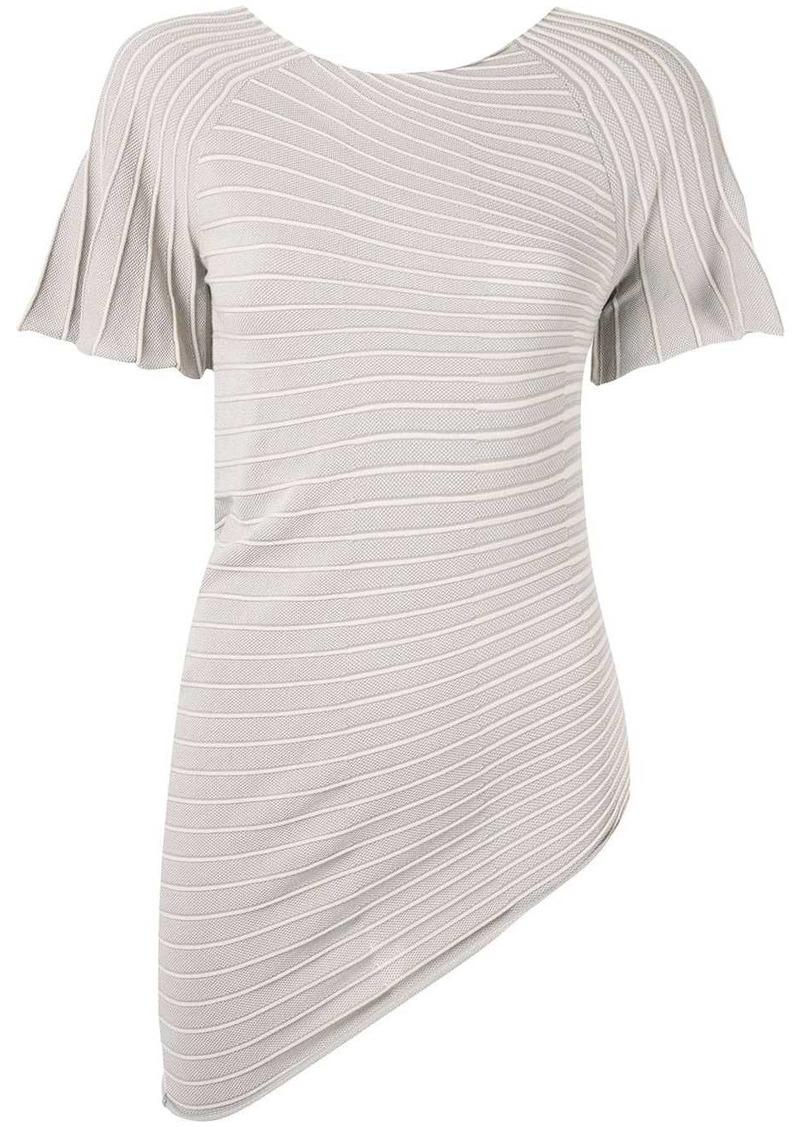 Armani asymmetric jersey T-shirt