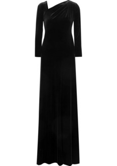 Armani Asymmetric Open-back Velvet Gown
