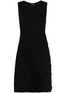 Armani asymmetric stitch detail dress