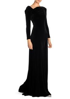 Armani Asymmetric Velvet Gown