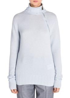 Armani Asymmetric Zip Cashmere Sweater