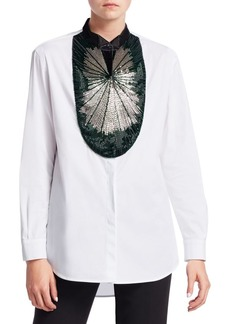 Armani Baguette Beaded Button-Down Shirt