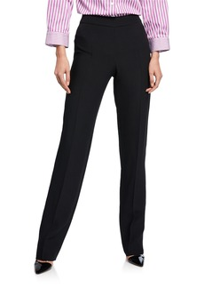 Armani Basic Straight-Leg Stretch Wool Pants