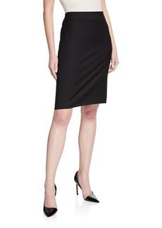 Armani Basic Stretch Wool Skirt