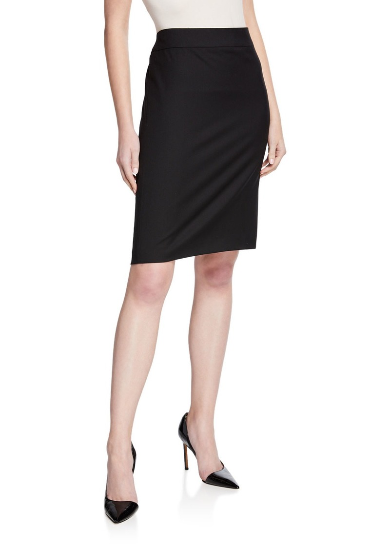Armani Basic Stretch Wool Skirt
