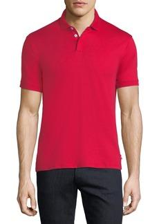 Armani Basic Textured Polo Shirt  Red