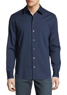 Armani Basic Woven Cotton Sport Shirt