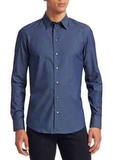 Armani Basket Weave Button-Down Shirt