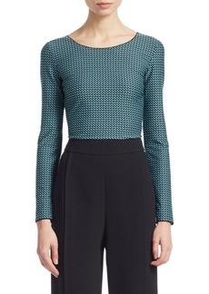 Armani Basketweave Long-Sleeve Jersey T-Shirt