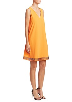 Armani Beaded Hem Sleeveless Dress