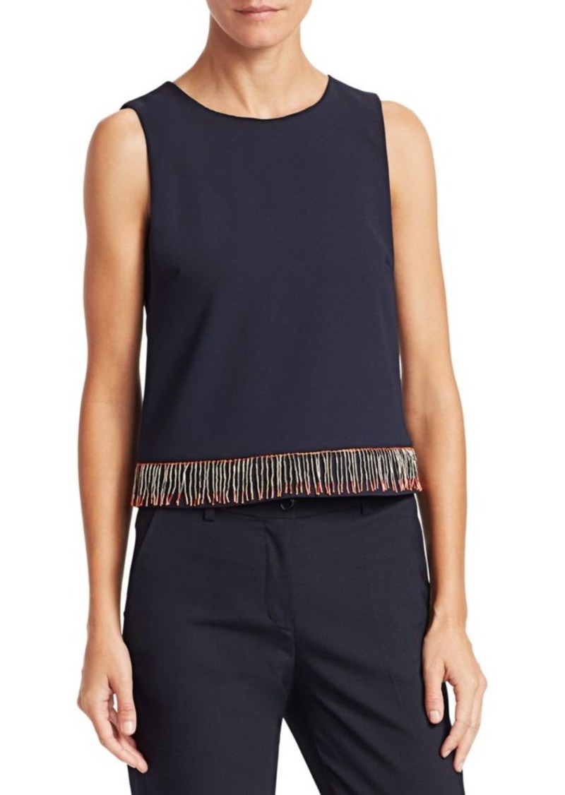Armani Beaded Hem Sleeveless Top