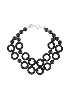 Armani beaded hoop necklace
