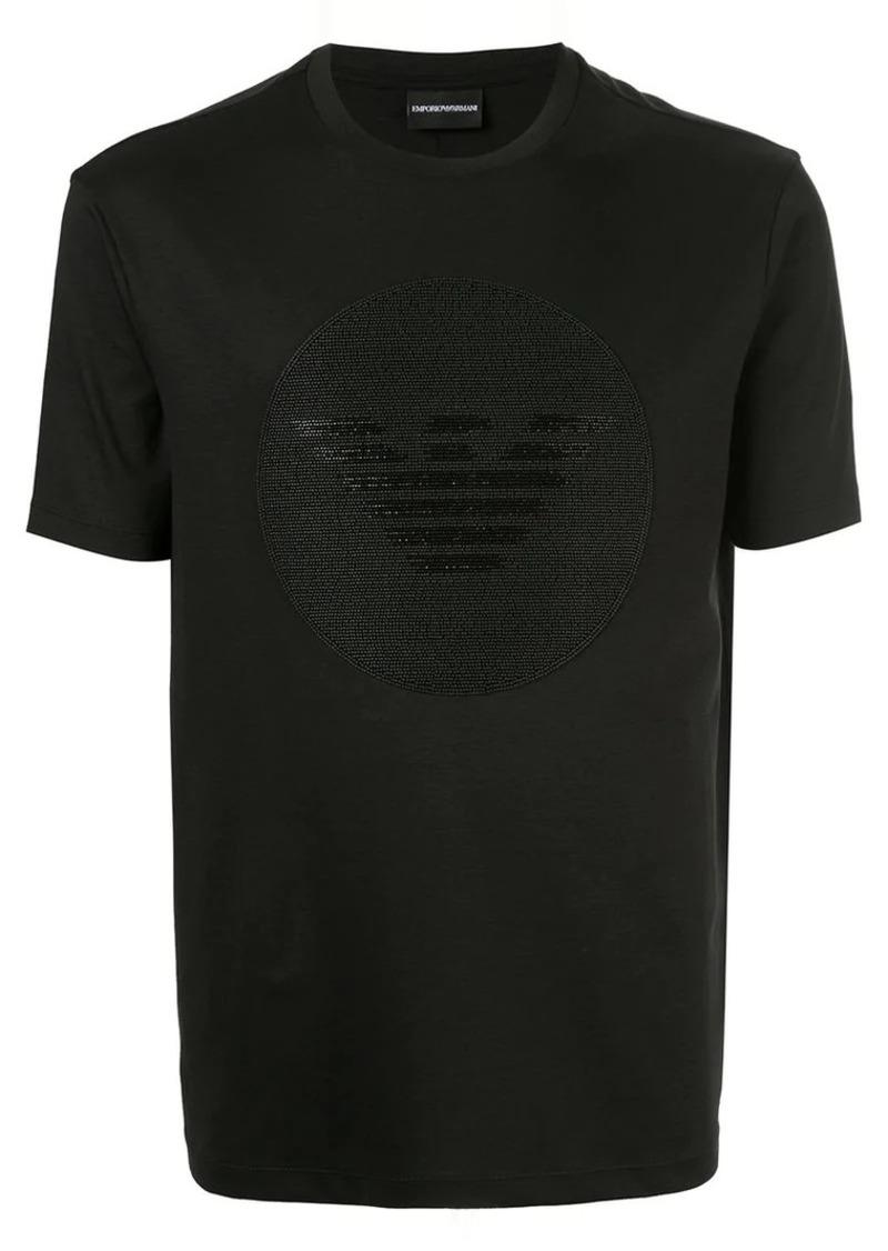 Armani beaded logo T-shirt