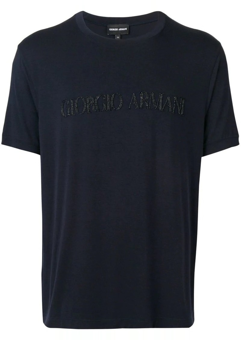 Armani beaded logo t-shirt