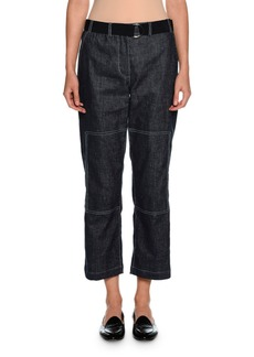 Armani Belted Denim Cropped Utility Pants