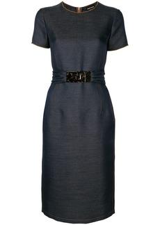 Armani belted short sleeve dress