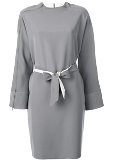 Armani belted zipped dress