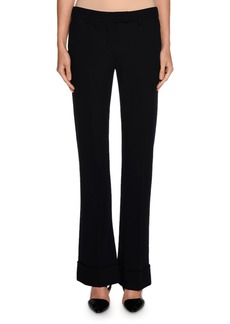 Armani Bias-Cut Cuff-Hem Pants