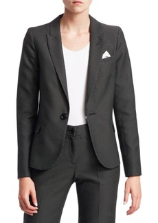 Armani Birdseye One-Button Blazer