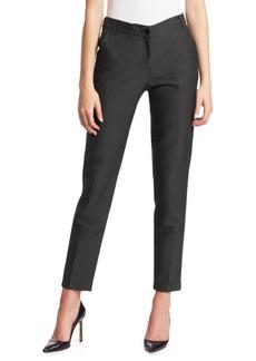 Armani Birdseye Zip-Front Pants