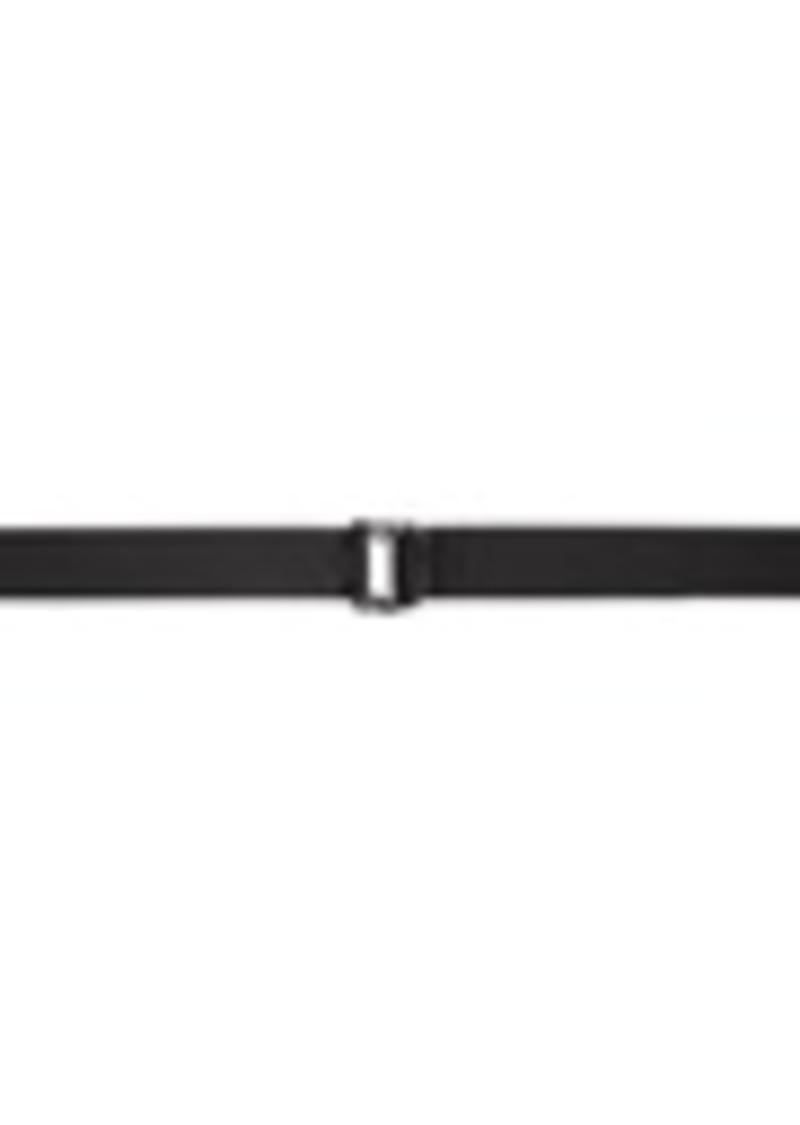 Armani Black Double Ring Belt