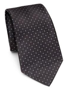 Armani Black Neat Silk Tie