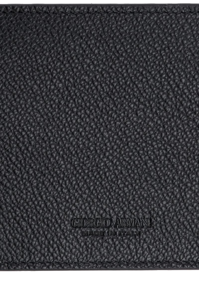 Armani Black Tumbled Leather Wallet