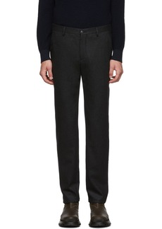Armani Black Virgin Melange Trousers