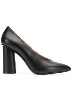Armani block heel pumps
