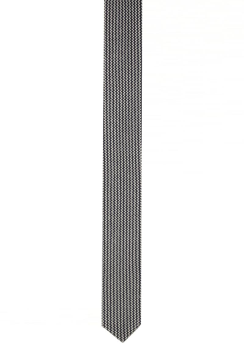 Armani Blue & White Double Knit Tie